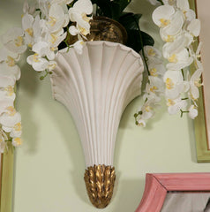 Gilt and White Painted Wall Brackets