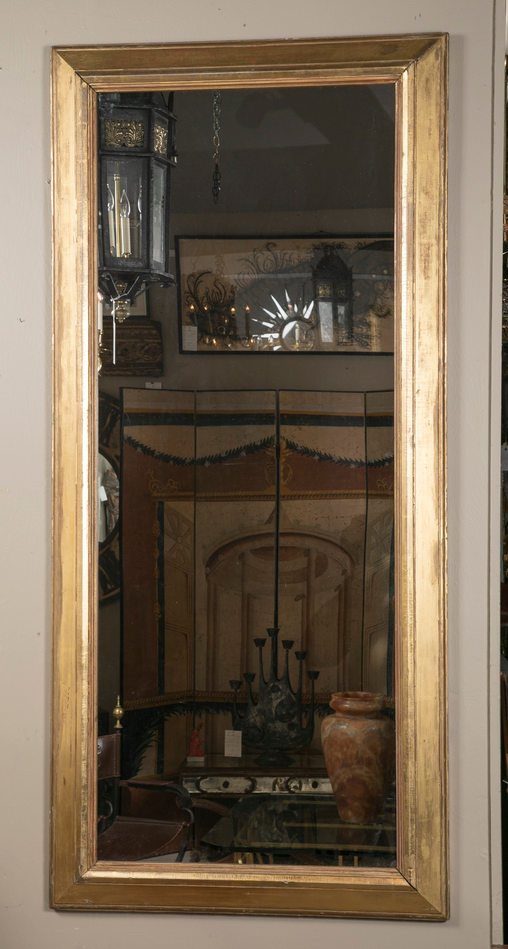 19th Century Large Scale Italian Giltwood Mirror