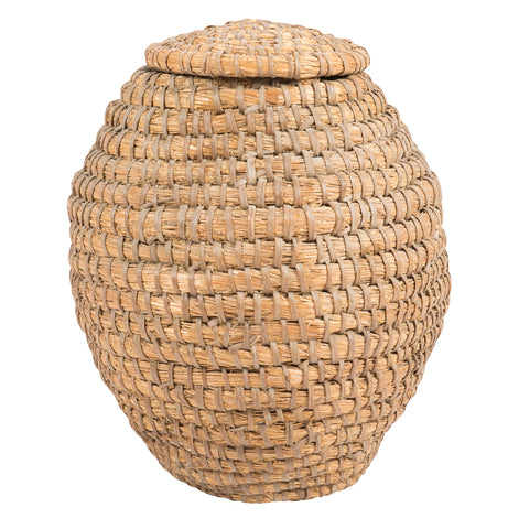 Natural Woven Basket with Lid