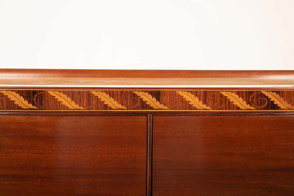 A Marble Top Mahogany Sideboard by Paolo Buffa
