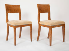 A Pair of Burled Elm Designed Samuel Marx