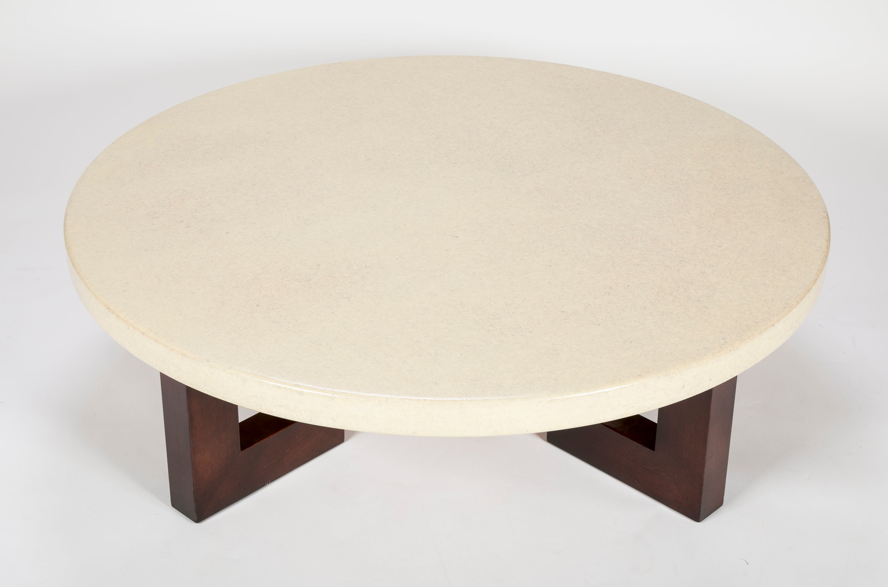 cork furniture. Circular Cork Coffee Table Designed By Paul Frankl For Johnson Furniture Co