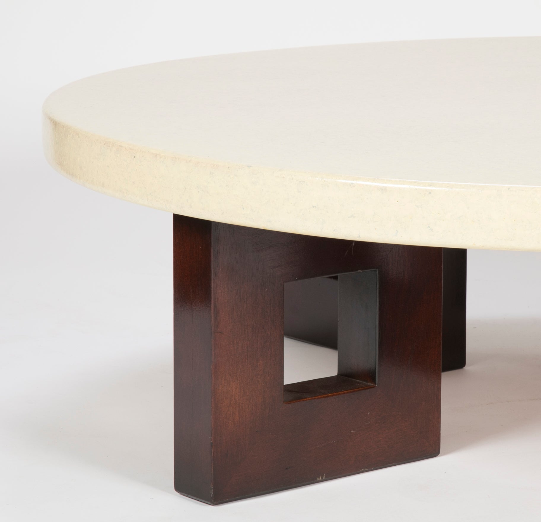 Circular Cork Coffee Table Designed by Paul Frankl for Johnson Furniture Co