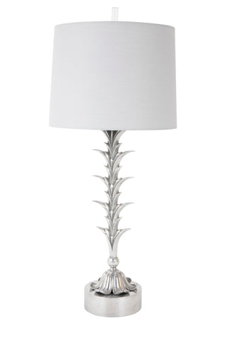Foliate Cast Metal Lamp in the Style of Charles et Fils
