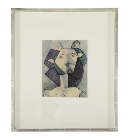 "Picasso ""Harlequin"" Colorgravure Printed by Draeger for ""Verve"""