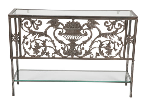 Wrought Iron Console