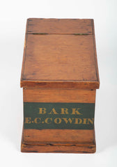"Whale Ship Agent's Document Box from the Whaling Bark ""E. C. Cowdin"" / Side Table"