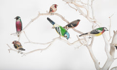 Colorful and Charming Folk Art Bird Tree