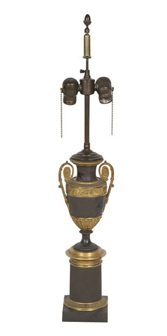Early 19th Century Empire Bronze Lamp