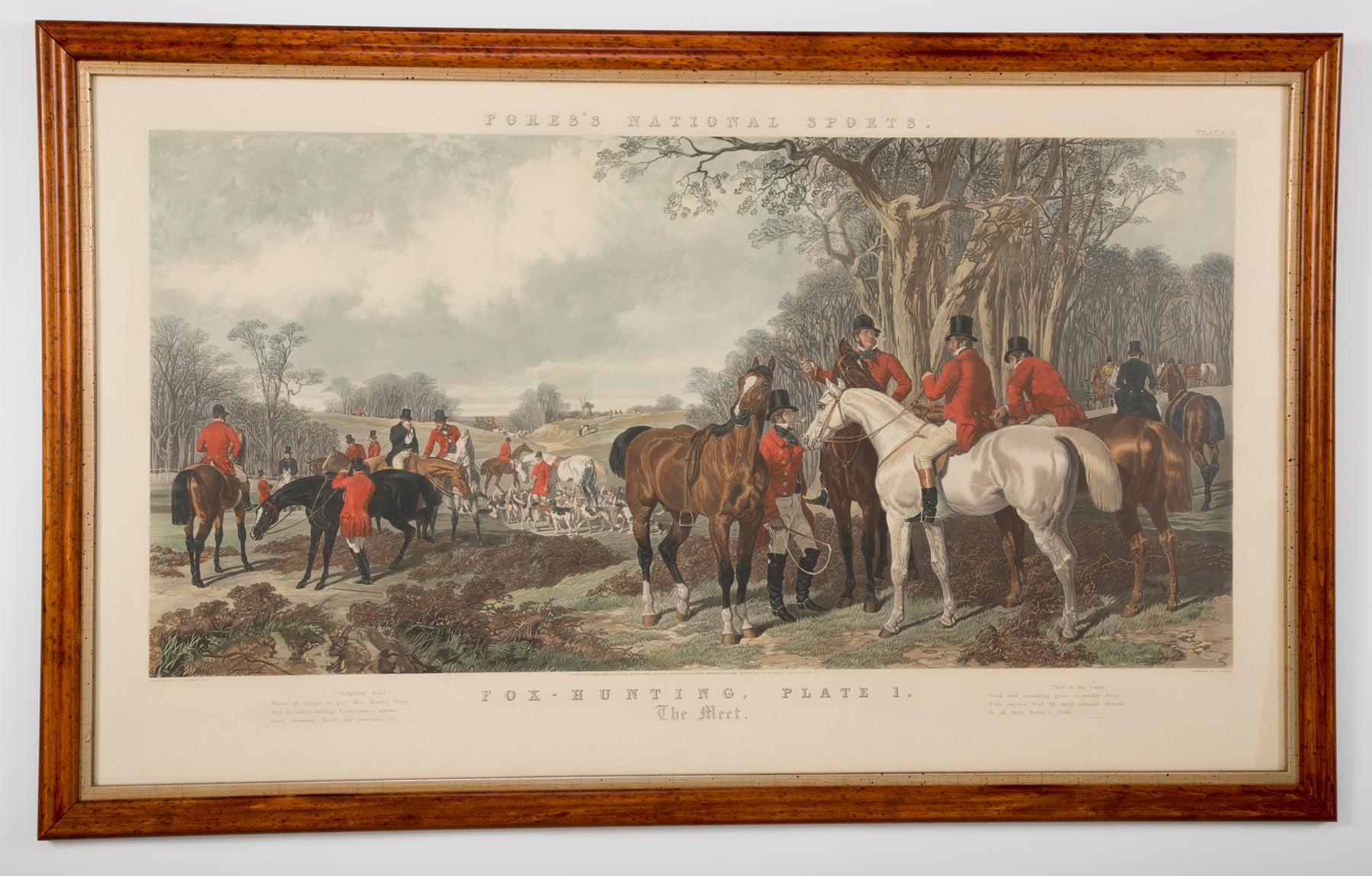 A Fox Hunting Scene by John Frederick Herring, Jr ( 1820 - 1907 )