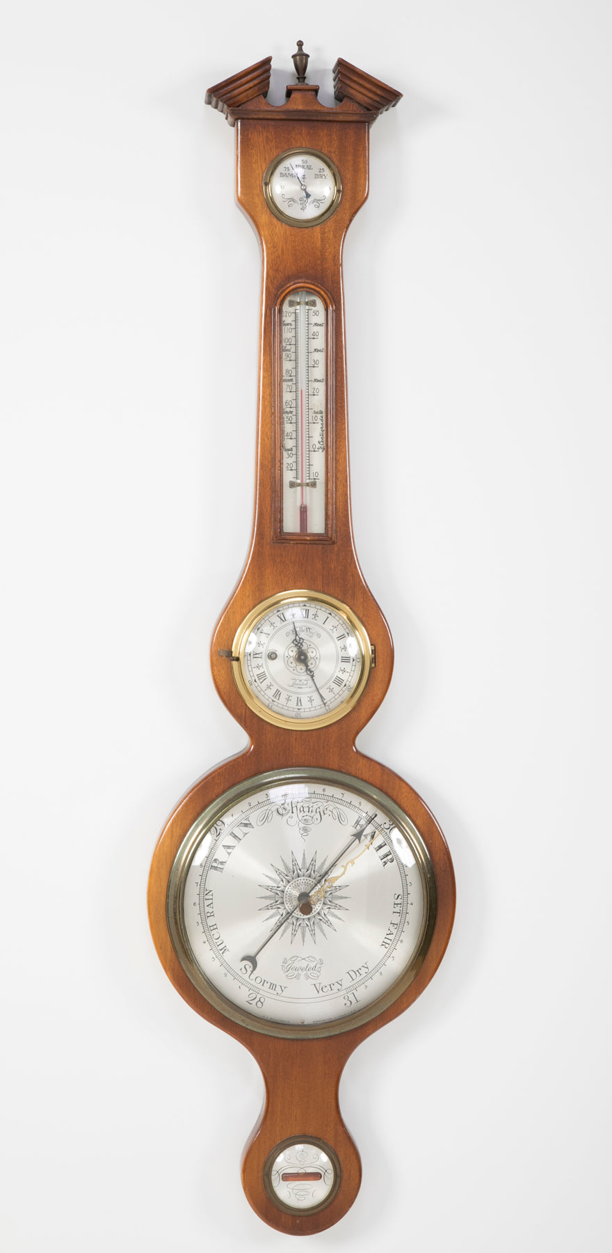 Barometer with Broken Pediment Top