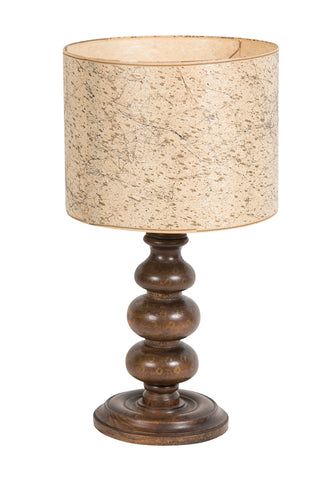 Early 20th Century Wood Turned Lamp