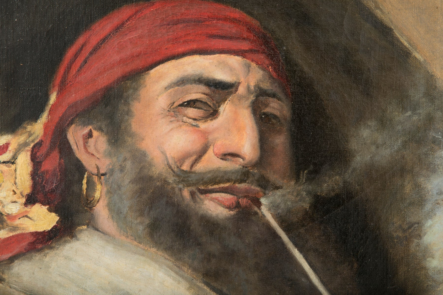 Oil Painting of a Pirate