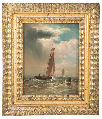 Oil Painting of a Sailing Vessel