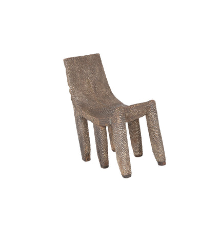 African Ngombe Studded Chair