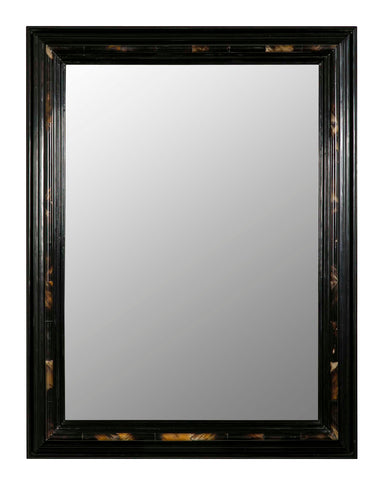 Large  Ebonized Horn Mirror