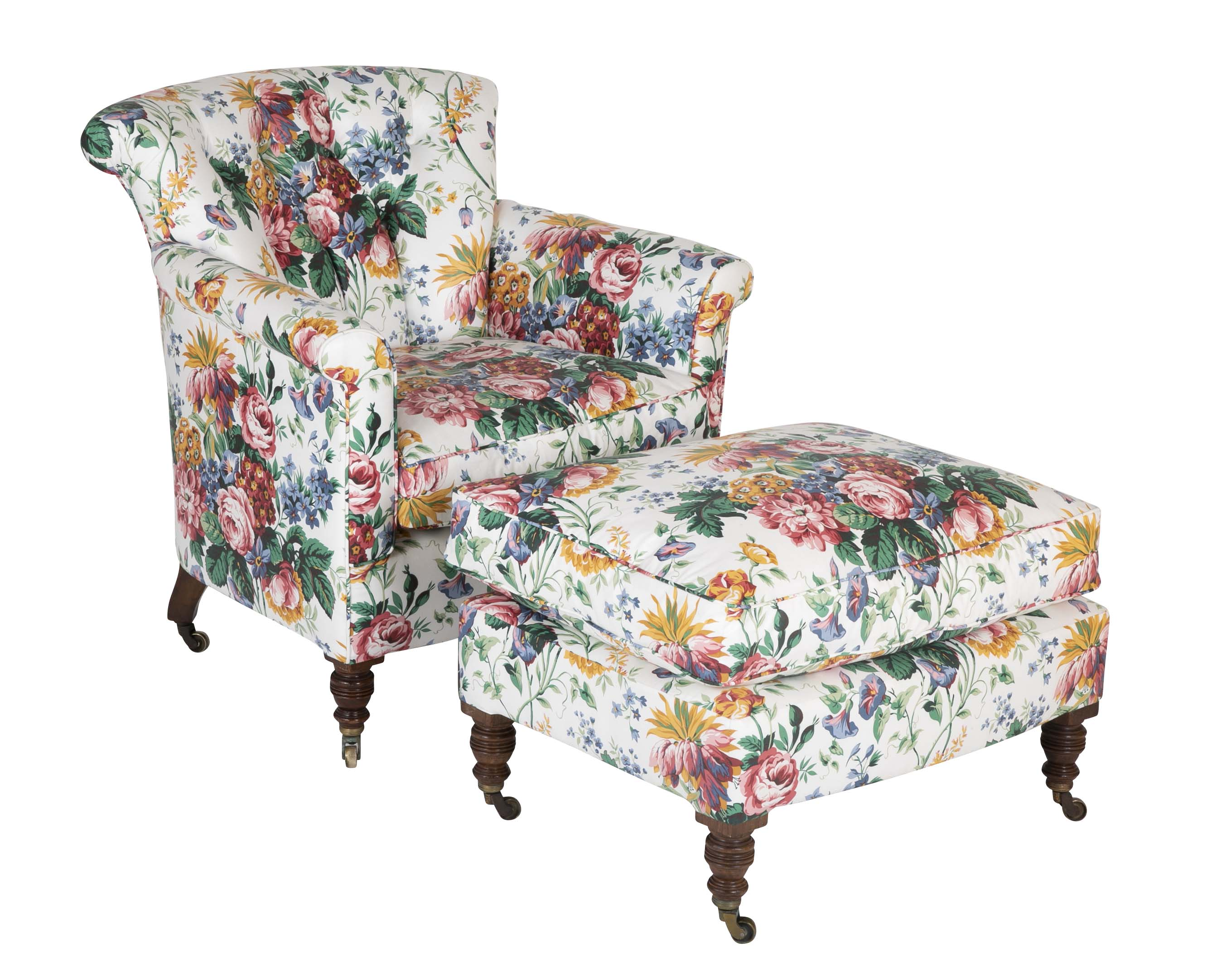 Pleasant A Late 19Th Century Howard Sons Beechwood Club Chair And Ottoman Alphanode Cool Chair Designs And Ideas Alphanodeonline