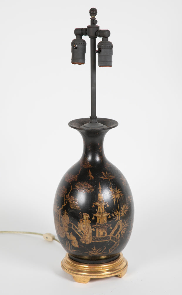 19th Century Asian Ceramic Lamp