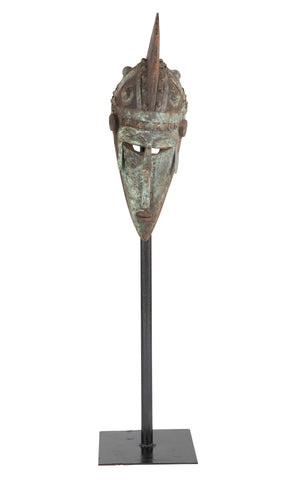 Ivory Coast Kolangoo Tribe Mask on Stand