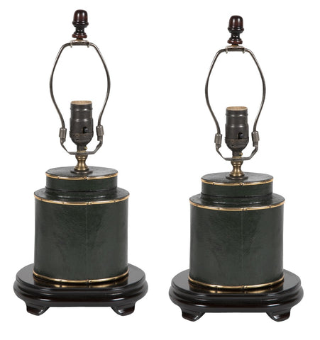 Pair of Early 20th Century Papier Mache Lamps