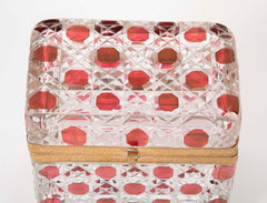 Two 19th Century Baccarat  Cut to Clear Glass Boxes