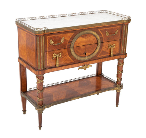 Louis XVI Period Marble Top Console