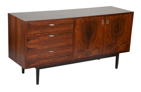 A Mid Century Danish Rosewood Chest with Aluminium Pulls.