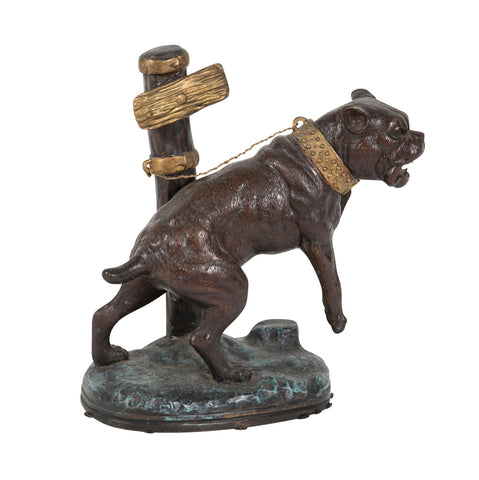 Bronze of a Guard Dog After Antoine Barve