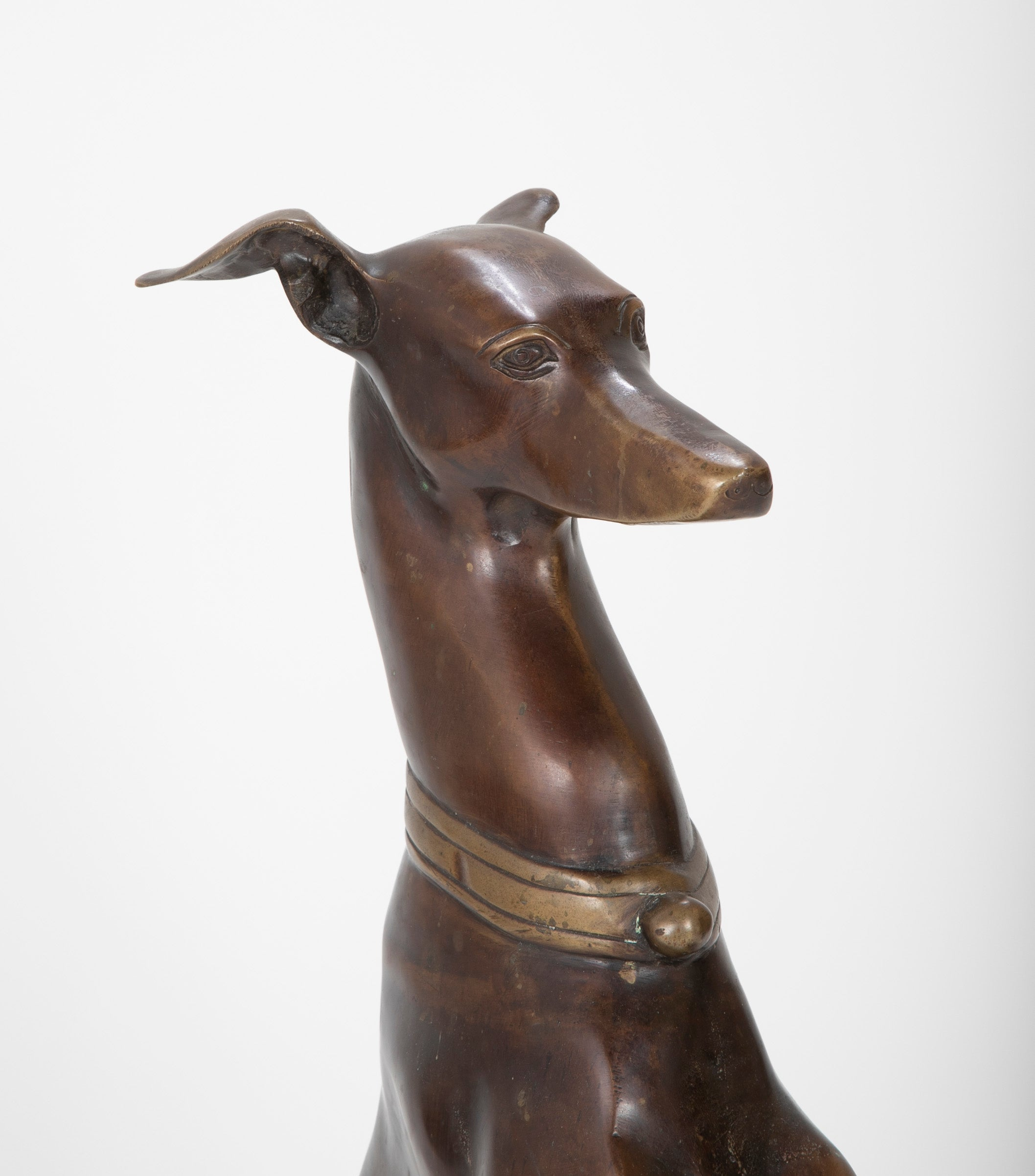Bronze Figure of a Whippet or Greyhound