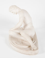 19th Century French Marble Statue of Dying Gaul