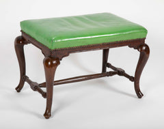 George I Walnut Cabriole Leg Bench
