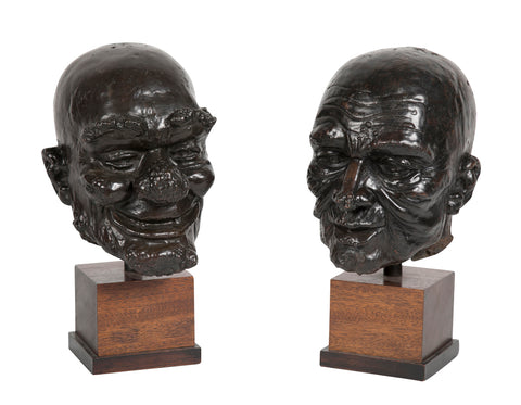 English Cast Bronze Heads Teaching of Medical Disorders