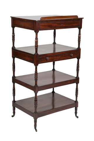 Regency Period English Mahogany Etagere