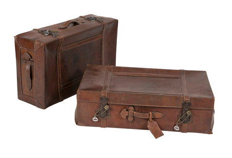 Matching Set of Leather Luggage