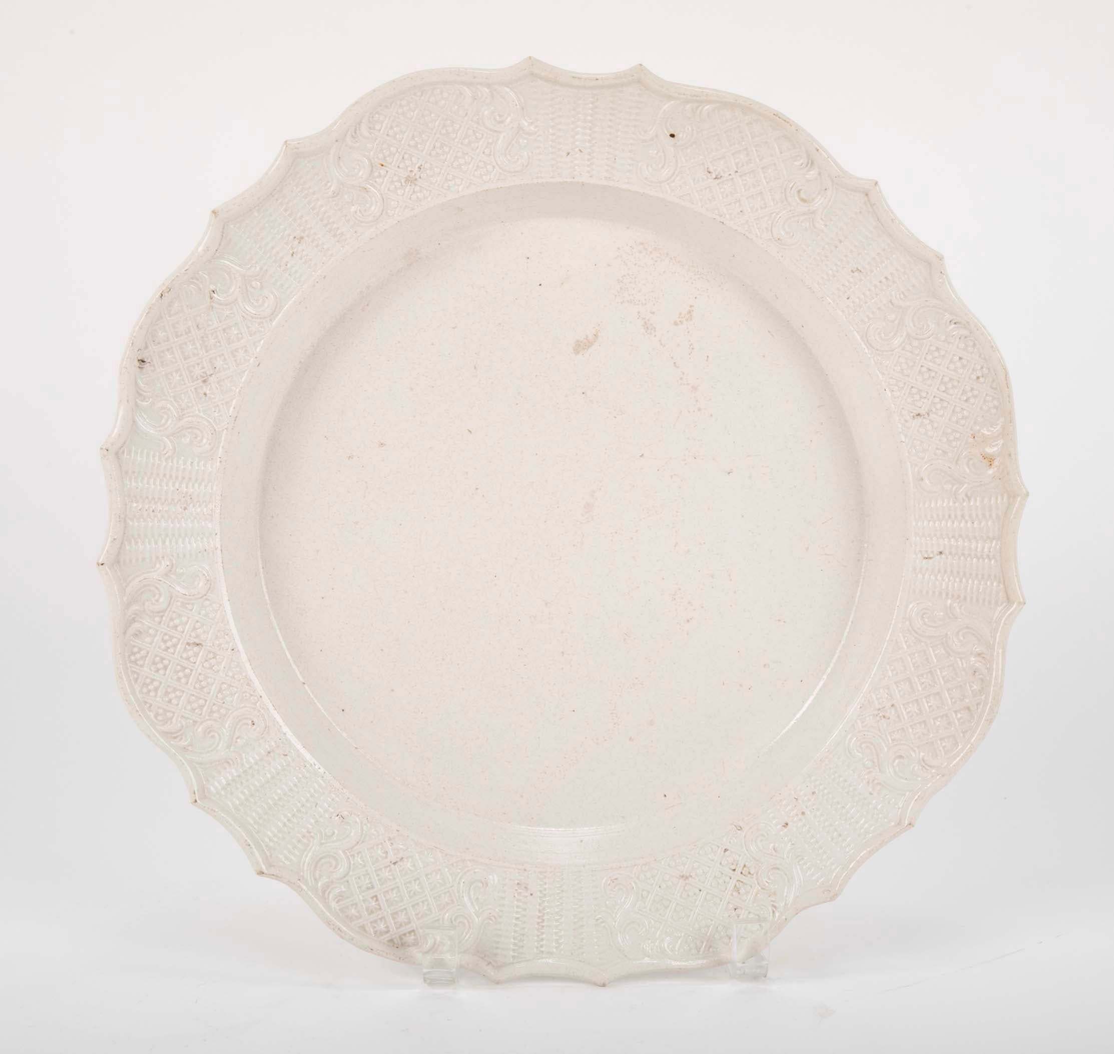 A  Late 18th Century Salt Glazed & Molded English Charger