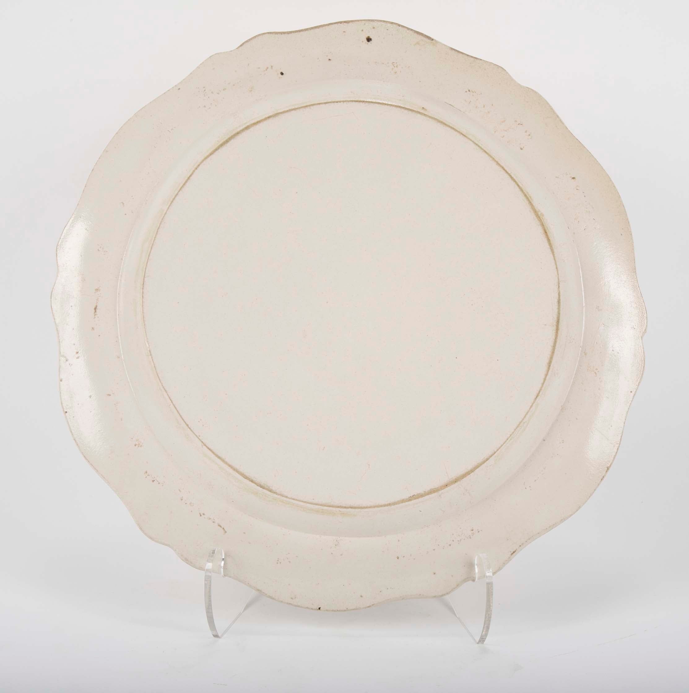 A Late 18th Century English Salt Glazed Charger