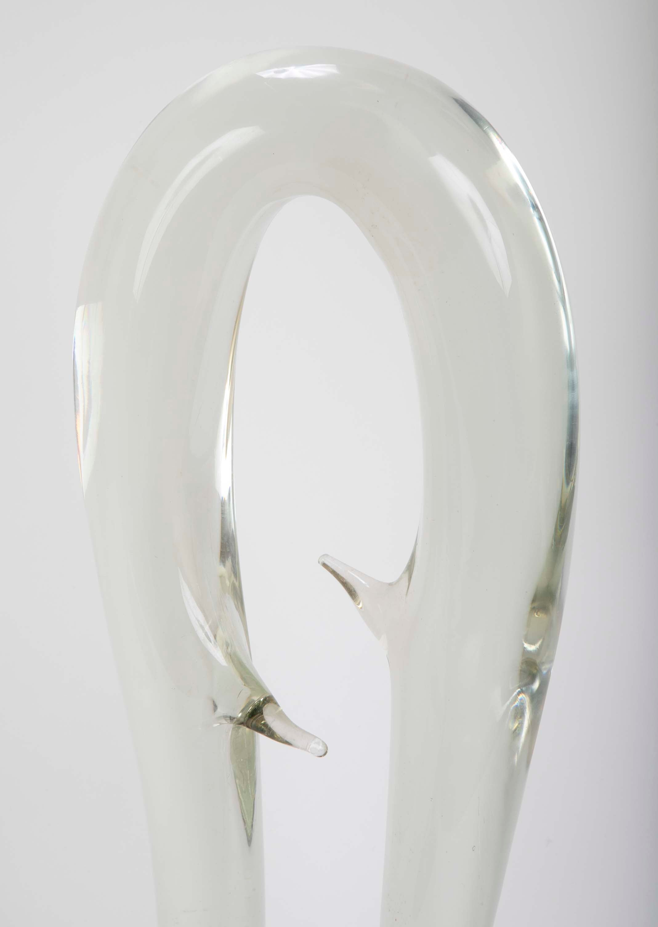 Mid-Century Glass Block Sculpture by Luciano Gaspari