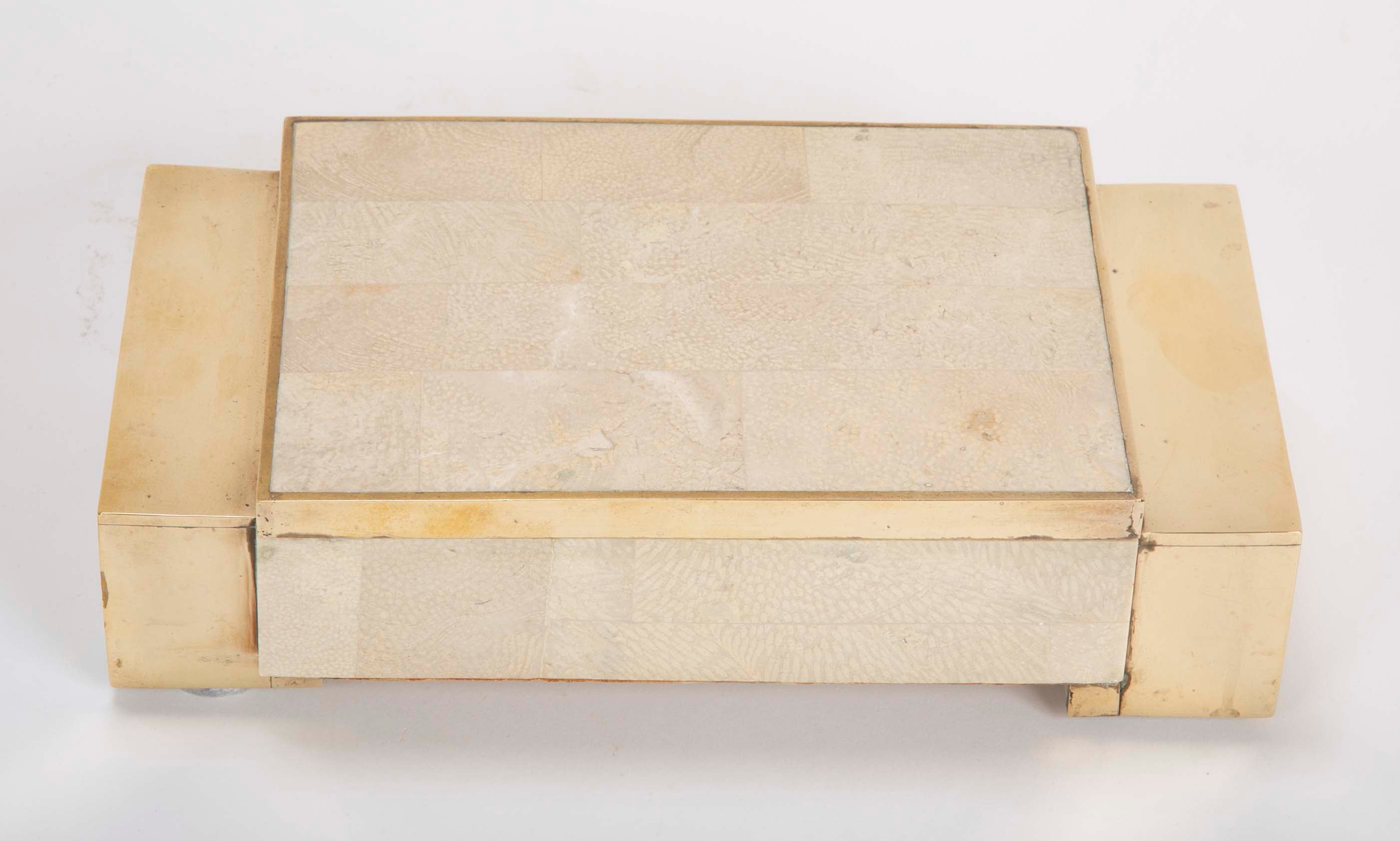 Tessellated Marble & Brass Box