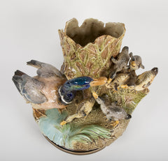 A Choisy-Le-Roi Majolica Jardiniere by Louis Robert Carriere Belleuse