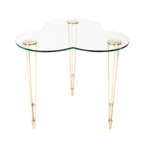 A French Brass and Glass Center / Side Table.