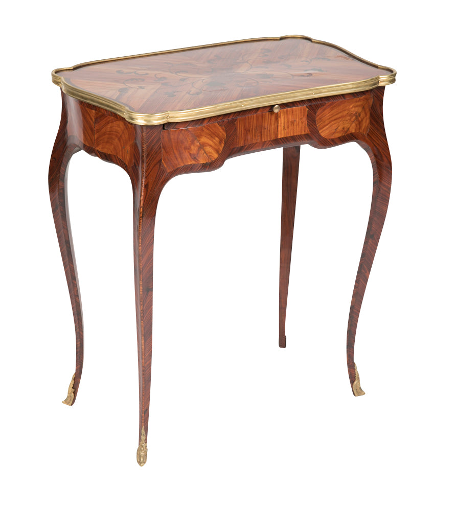 Louis Xv Marquetry Veneered Bronze Mounted Side Table Avery