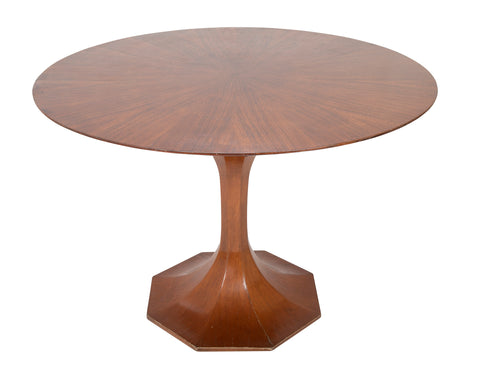 Italian Faceted Hour Glass Form Mahogany Center Table