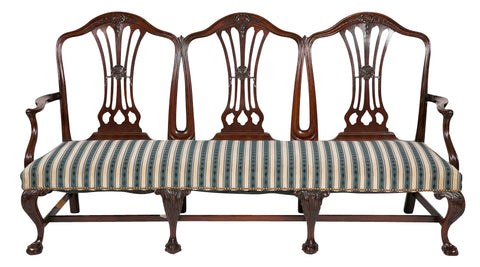 Rare English George II - III Mahogany Settee
