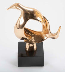 """Swirling Seagulls"" signed Bronze Sculpture by Carla Lavatelli"