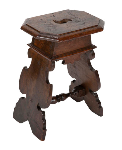 Italian Baroque Walnut Stool