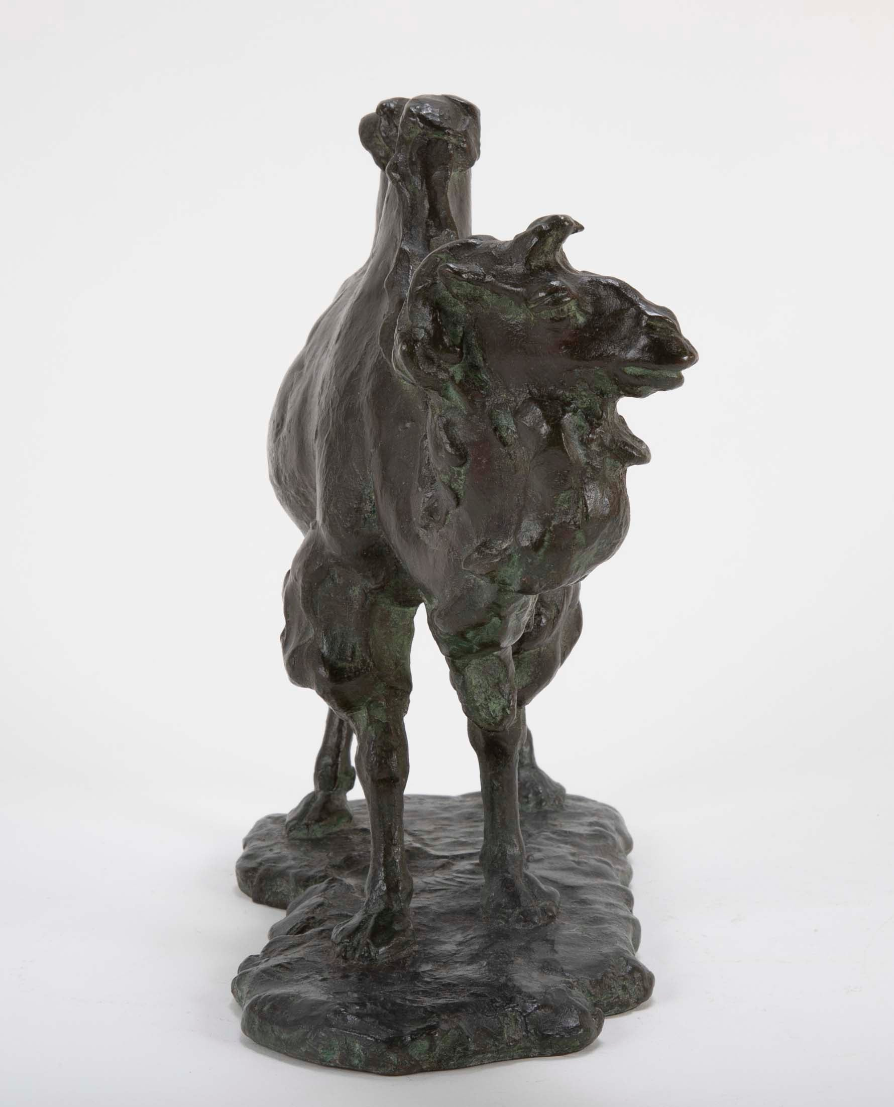 A Japanese Bronze of a Bactrian Camel