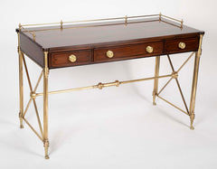 Regency Style Rosewood and Bronze Campaign Desk