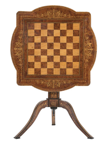 Italian Signed Sorrento Tilt Top Games Table