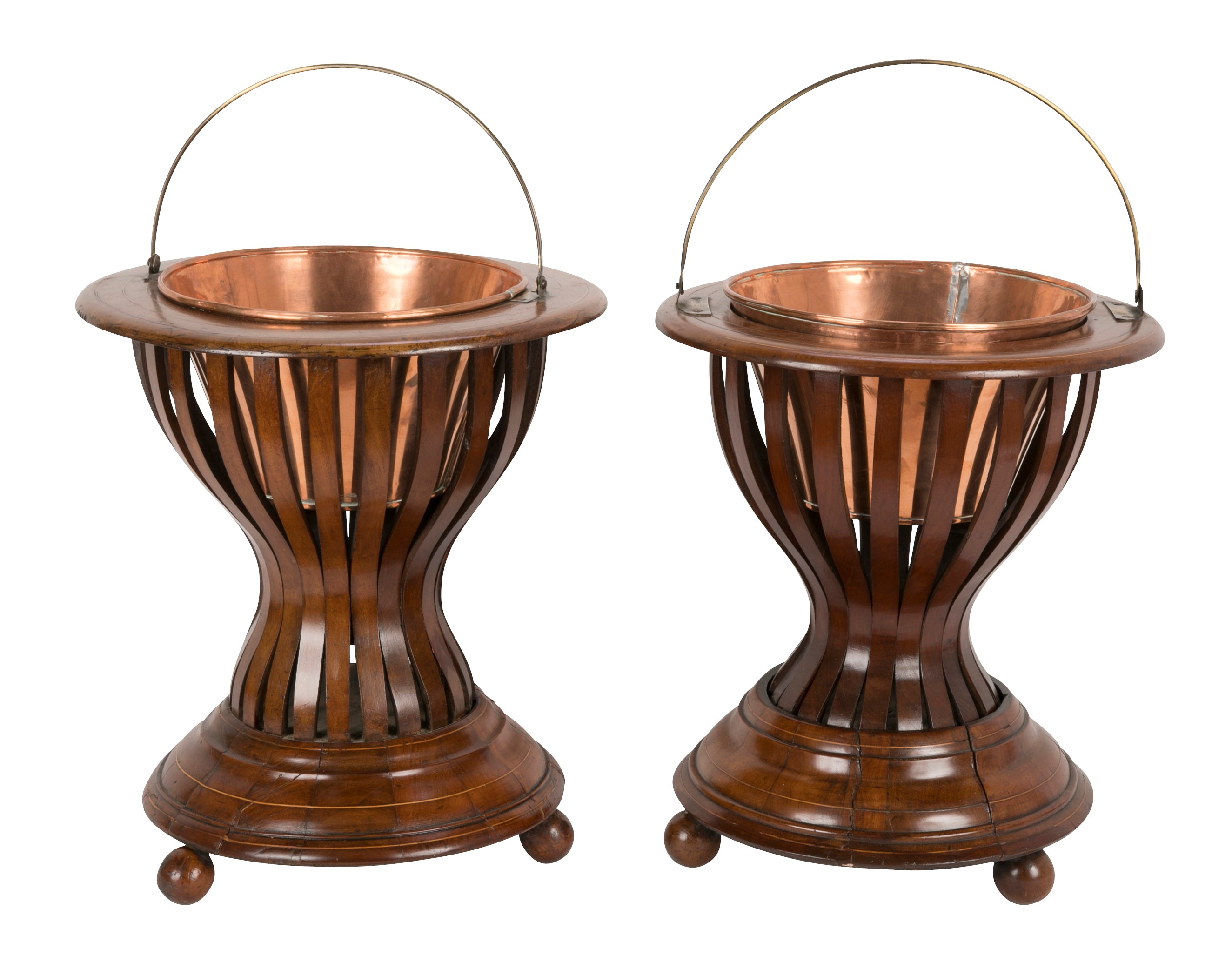 Pair of Regency Mahogany Peat Buckets or Planters