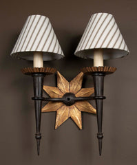 Pair of Two Arm Star Sconces